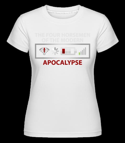 moderné Apocalypse -  Shirtinator tričko pre dámy - Biela - Predné
