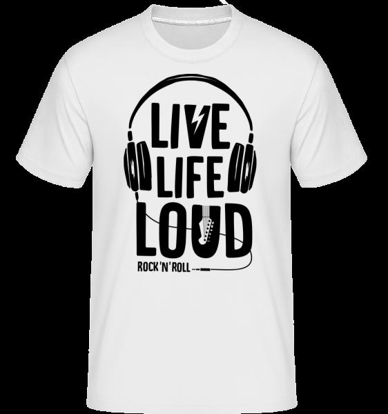 Živé Life Loud -  Shirtinator tričko pre pánov - Biela - Predné