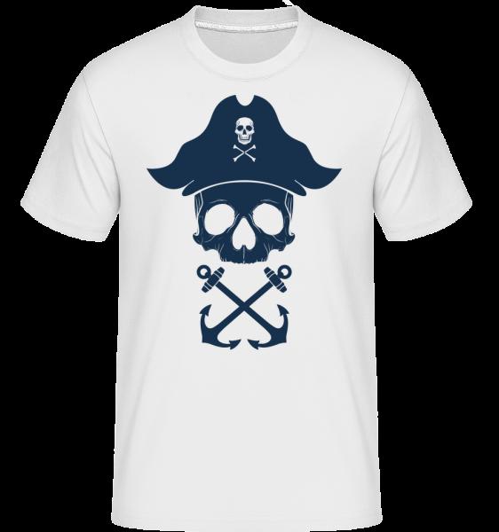 Pirate Skull -  Shirtinator tričko pre pánov - Biela - Predné