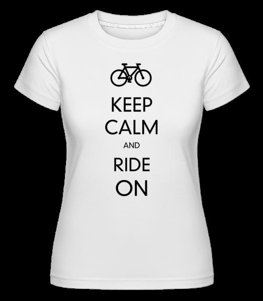 Miernite sa a jazdiť ďalej -  Shirtinator tričko pre dámy - Biela - Predné