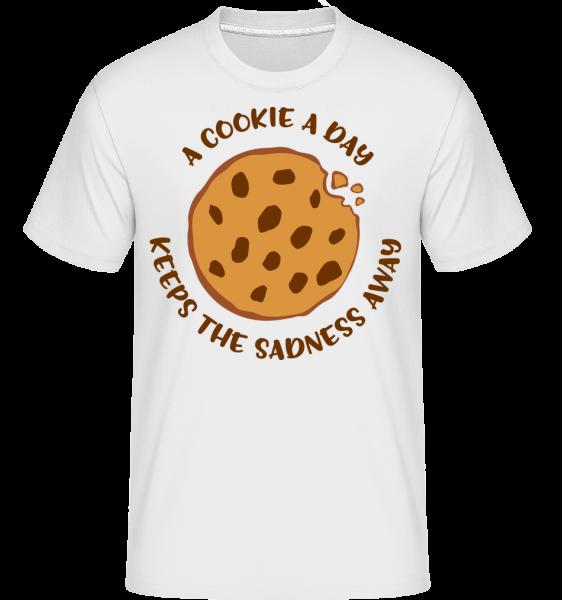 Cookie A Day -  Shirtinator tričko pre pánov - Biela - Predné