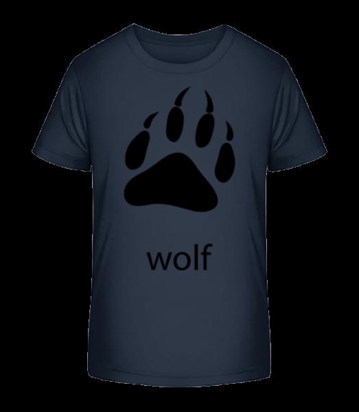 wolf Paw - Detské Premium Bio tričko - Namornícka modrá - Predné