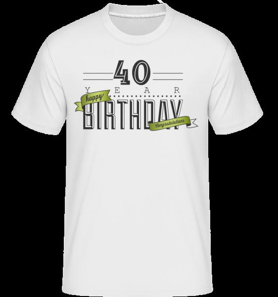 40 narodeniny znamenia -  Shirtinator tričko pre pánov - Biela - Predné