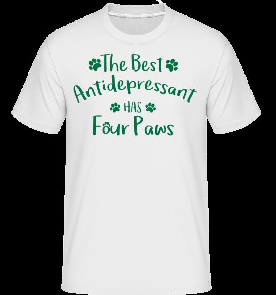 najlepšie Antidepresívny -  Shirtinator tričko pre pánov - Biela - Predné