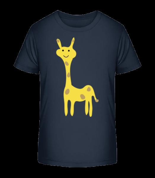 Kids Comic - Giraffe - Detské Premium Bio tričko - Namornícka modrá - Predné