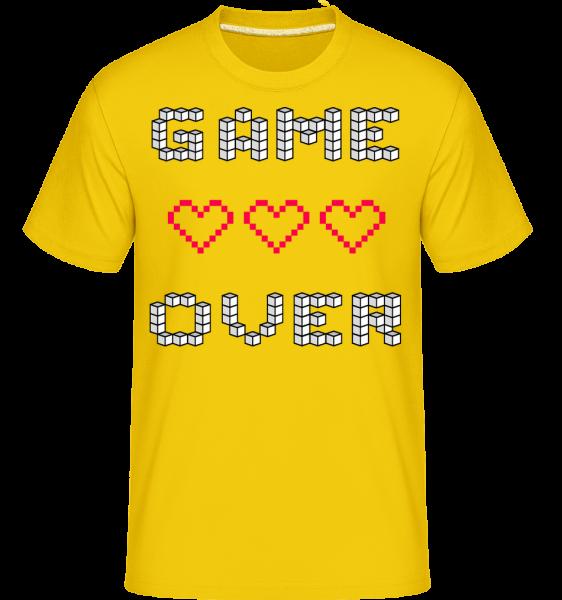 Game over Hearts Sign -  Shirtinator tričko pre pánov - Zlatožltá - Predné