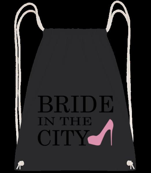 Bride In The City - Drawstring batoh so šnúrkami - čierna - Predné