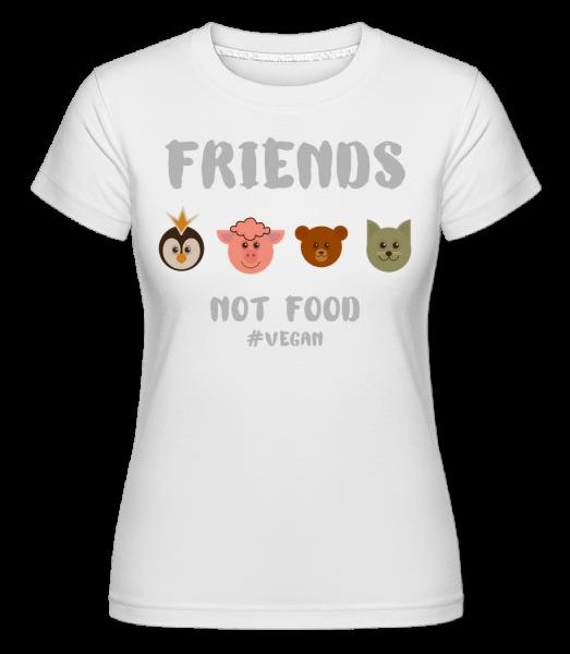 priatelia nepotravné - Shirtinator tričko pre dámy - Biela - Predné