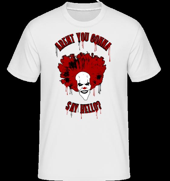 Nie sú povieš Haló? -  Shirtinator tričko pre pánov - Biela - Predné
