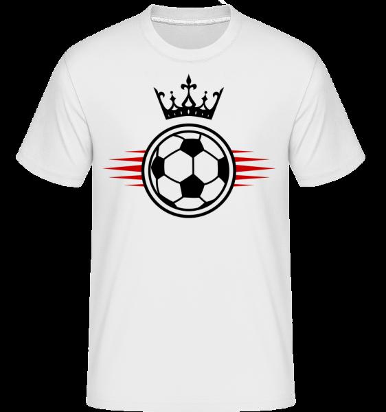 Football Crown -  Shirtinator tričko pre pánov - Biela - Predné