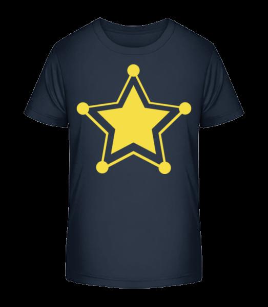 Star Icon Yellow - Detské Premium Bio tričko - Namornícka modrá - Predné