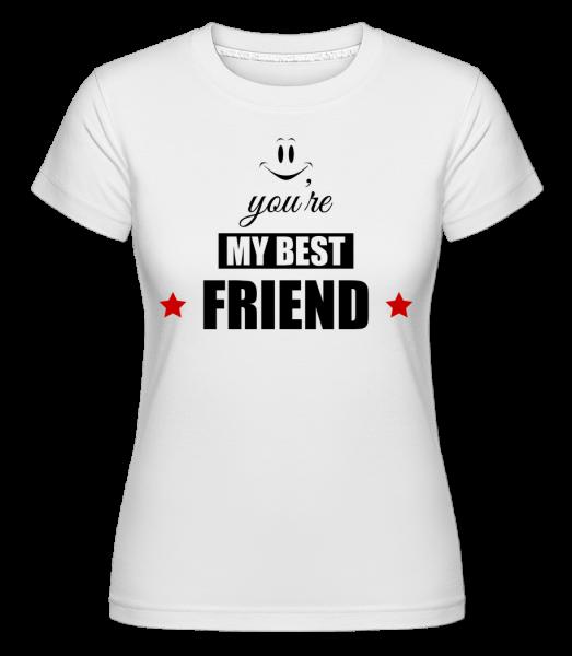 You're My Best Friend -  Shirtinator tričko pre dámy - Biela - Predné