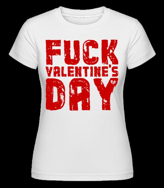 Fuck Valentines Day -  Shirtinator tričko pre dámy - Biela - Predné