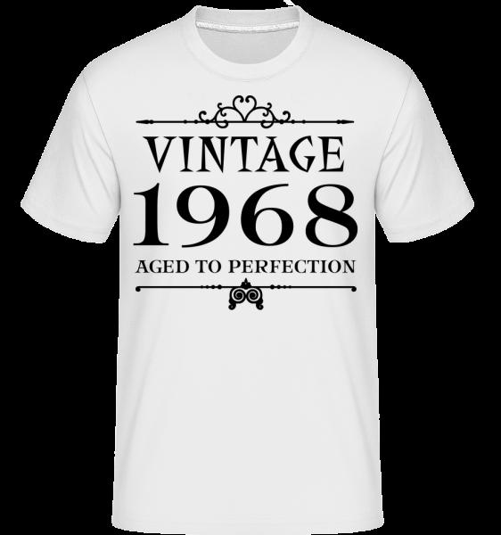 Vintage 1968 Perfection -  Shirtinator tričko pre pánov - Biela - Predné