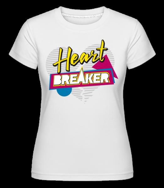 Heart Breaker - Shirtinator tričko pre dámy - Biela - Predné