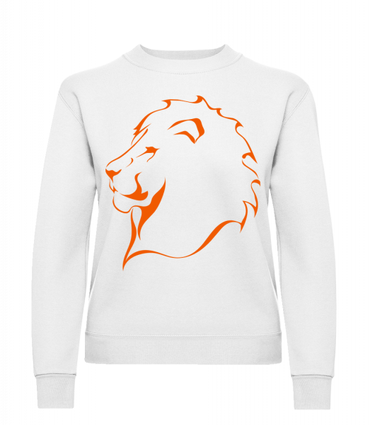 Lion - Klasická mikina pre dámy sg - Biela - Predné