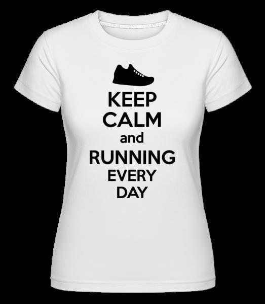 Zachovať pokoj a beží -  Shirtinator tričko pre dámy - Biela - Predné