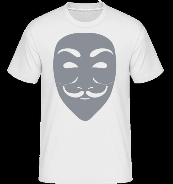 Masque Icon Gray -  Shirtinator tričko pre pánov - Biela - Predné