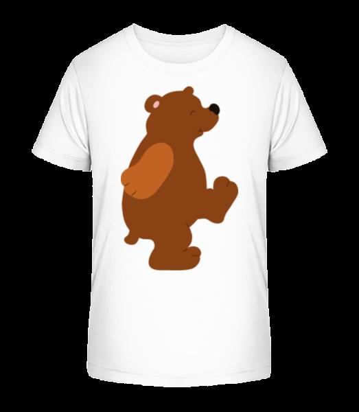 Deti Comic - Bear - Detské Premium Bio tričko - Biela - Predné