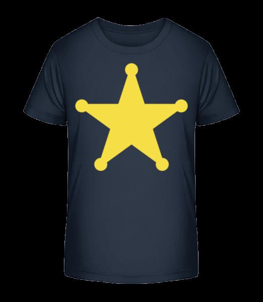 Star Logo - Detské Premium Bio tričko - Namornícka modrá - Predné