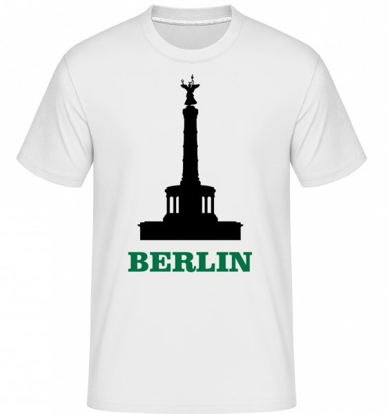 Berlín Skyline -  Shirtinator tričko pre pánov - Biela - Predné