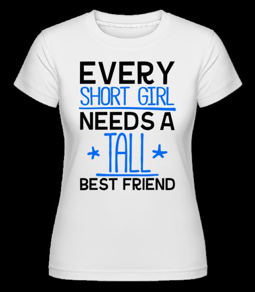 Vysoký Best Friend -  Shirtinator tričko pre dámy - Biela - Predné