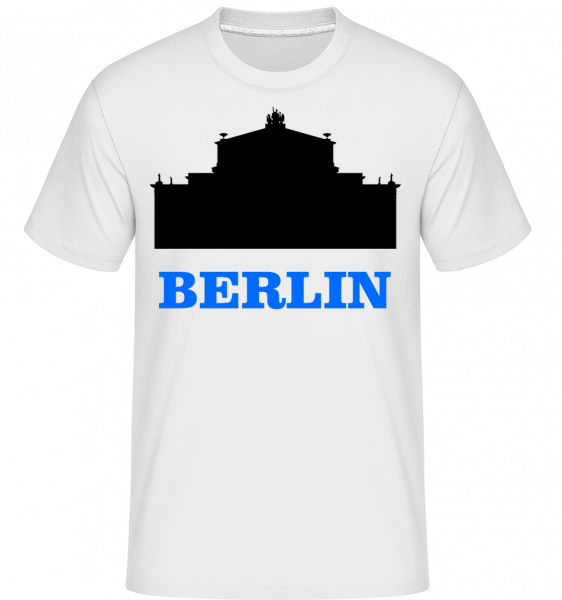 Berlin Skyline -  Shirtinator tričko pre pánov - Biela - Predné