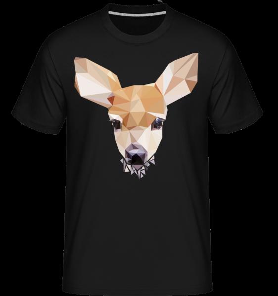 Polygon Deer -  Shirtinator tričko pre pánov - čierna - Predné