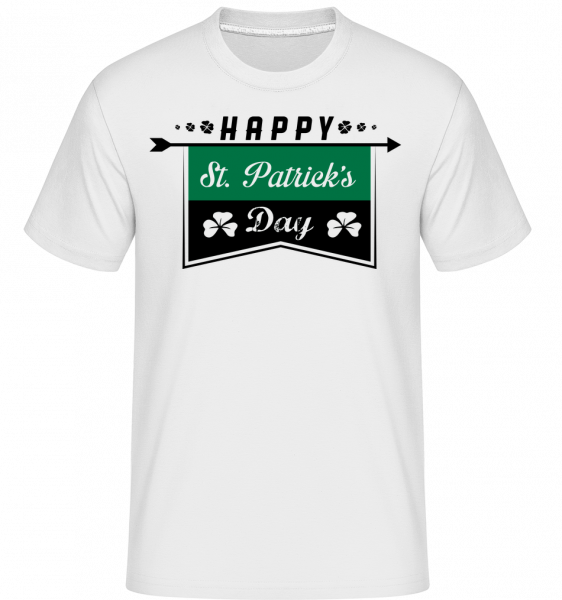 Happy St. Patrick's Logo -  Shirtinator tričko pre pánov - Biela - Predné
