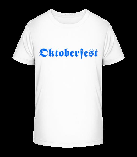 Oktoberfest - Detské Premium Bio tričko - Biela - Predné
