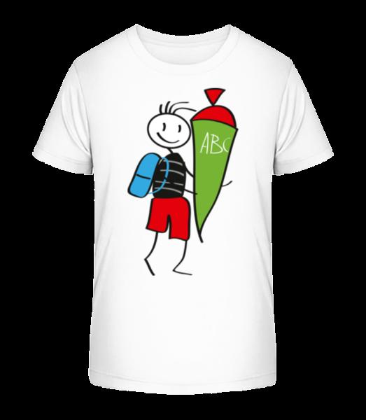 Dieťa sa Cornet plné cukroví - Detské Premium Bio tričko - Biela - Predné