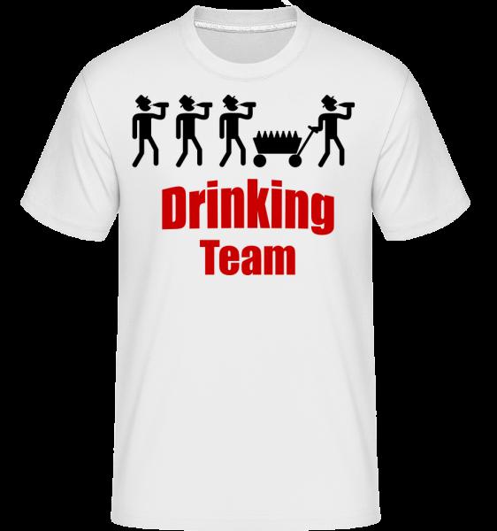 pitie Team - Shirtinator tričko pre pánov - Biela - Predné