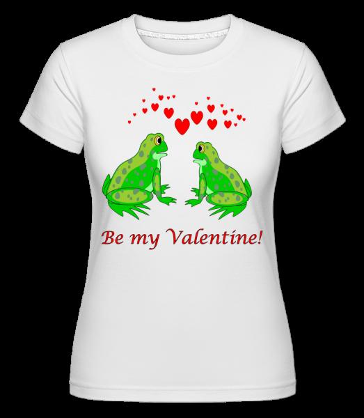 Žaby Be My Valentine - Shirtinator tričko pre dámy - Biela - Predné