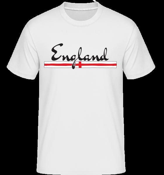 futbalová Anglicko -  Shirtinator tričko pre pánov - Biela - Predné