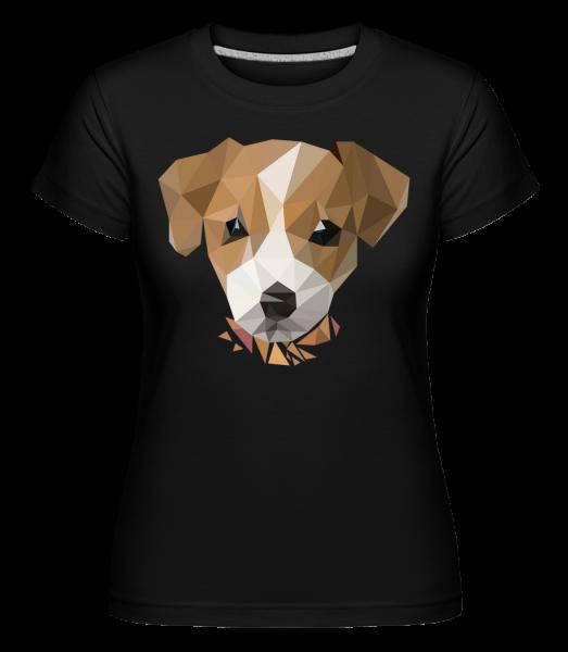 polygón Dog -  Shirtinator tričko pre dámy - Čierna1 - Predné