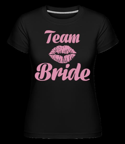 Tím nevesta bozk -  Shirtinator tričko pre dámy - Čierna1 - Predné