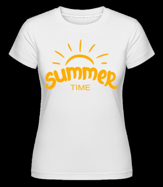 Summer Time Yellow -  Shirtinator tričko pre dámy - Biela - Predné