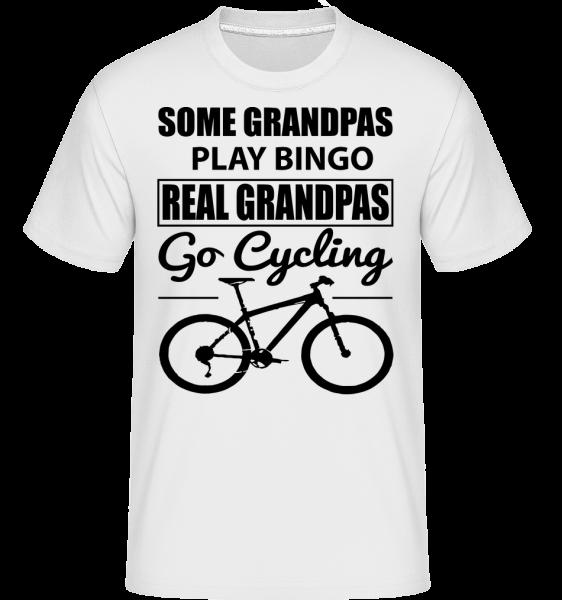 Real Granpas Go Cycling - Shirtinator tričko pre pánov - Biela - Predné