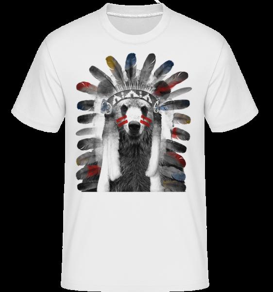 indian Bear -  Shirtinator tričko pre pánov - Biela - Predné