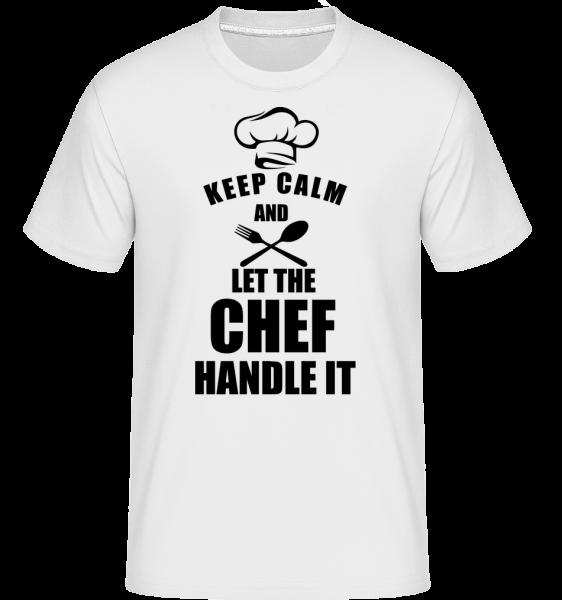 Zachovať pokoj Chef - Shirtinator tričko pre pánov - Biela - Predné