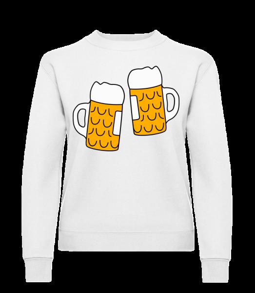 Two Beer - Klasická mikina pre dámy sg - Biela - Predné