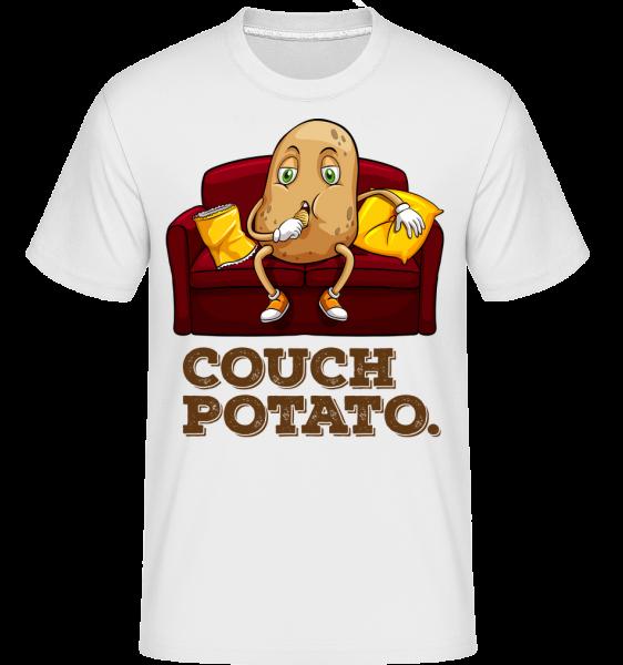 Lenivec -  Shirtinator tričko pre pánov - Biela - Predné