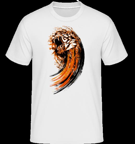 Roaring Tiger -  Shirtinator tričko pre pánov - Biela - Predné