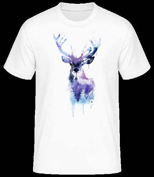 umelecké Deer - Pánske basic tričko - Biela - Predné