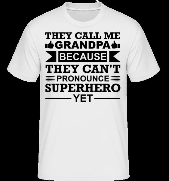 dedo Superhero - Shirtinator tričko pre pánov - Biela - Predné