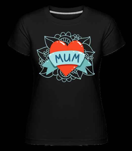 Mum Heart Icon -  Shirtinator tričko pre dámy - Čierna1 - Predné