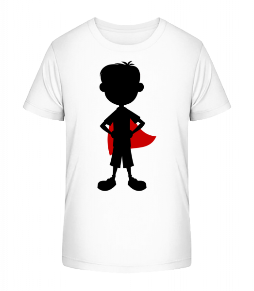 superhrdina Brother - Detské Premium Bio tričko - Biela - Predné