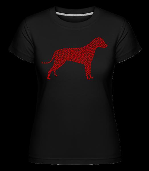 Heart Dog -  Shirtinator tričko pre dámy - Čierna1 - Predné